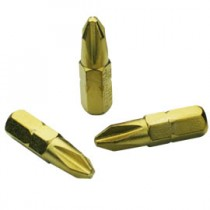 Titanium Coated Screwdriver Bits