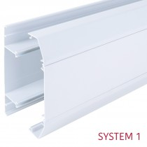 Bendex – Officeline 3-Compartment Perimeter Trunking