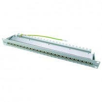 "Telegartner 19"" 24 Port Cat 6a STP Patch Panel in black"